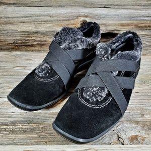 Stuart Weitzman Black Suede Leather Ankle Booties